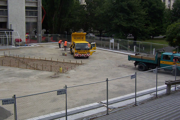 Commercial Siteworks - University of Canterbury, Christchurch.
